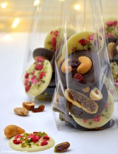 Mendiants au chocolat Rezept schokoladentaler aus der Provence Geschenk