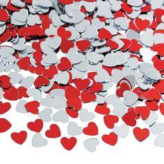 Red+%26+Silver+Heart+Confetti+-+OrientalTrading.com 24 tables/ 2 bags