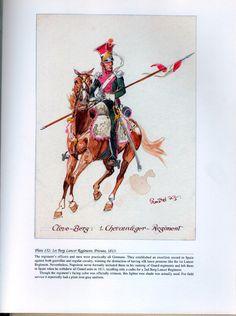 Imperial Guard: Plate 152: 1st Berg Lancer Regiment, Private, 1813.