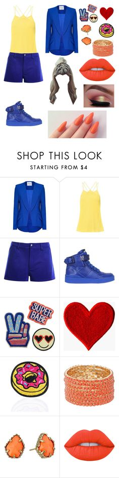 """Got7/Youngjae/Just Right/2"" by emili-ruiz ❤ liked on Polyvore featuring Moschino, Love and Madness and Kendra Scott"