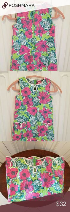 Lilly Pulitzer girls floral dress size 7 NWT Adorable floral dress. Never worn, flawless. Was too big on her Lilly Pulitzer Dresses