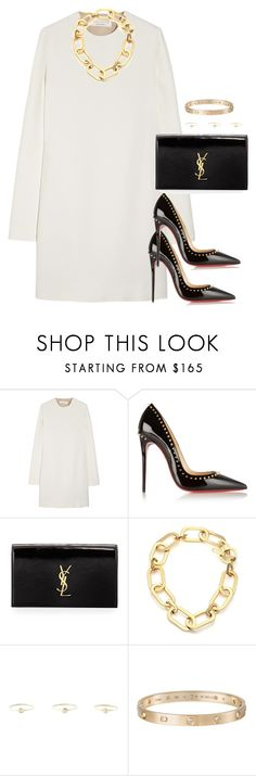"""""""Unbenannt #1918"""" by luckylynn-cdii ❤ liked on Polyvore featuring Victoria Beckham, Christian Louboutin, Yves Saint Laurent, Michael Kors, Natasha Collis, Cartier, women's clothing, women's fashion, women and female"""