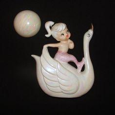 Vintage Norcrest Mermaid Fish Girl Ceramic Wall Plaque
