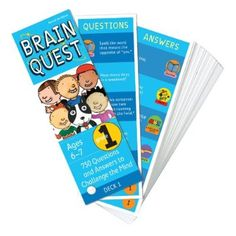 Brain Quest Grade Revised Edition: 750 Questions and Answers to Challenge The Mind (Brain Quest Decks) Question And Answer Games, Brain Teasers For Kids, Thing 1, Deck Of Cards, Grade 1, Elementary Schools, Curriculum, Math, Words