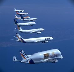 The AIRBUS AIRCRAFT family in formation