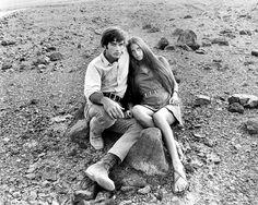 Mark FRECHETTE & Daria HALPRIN woven into the landscape of Antonioni's ZABRISKIE POINT (1970) via @Co_SwEuphoria