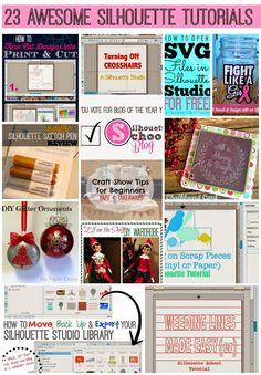 22 Silhouette Tutorials, Tips and Tricks (December Wrap Up) ~ Silhouette School