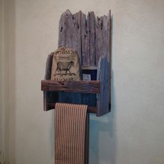 Barn board cubby shelf....