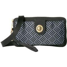 Baggallini Lisbon RFID Wristlet (Basket Weave) Wristlet Handbags (900 MXN) ❤ liked on Polyvore featuring bags, handbags, clutches, handbags clutches, zip purse, handbag purse, baggallini purses and wristlet clutches
