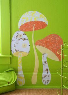 DIY fabric wall decals. by juanita
