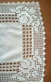Lapghans Crochet - Basic Embroidery Stitches Embroidery stitch for beginners Crochet Borders, Crochet Motif, Crochet Doilies, Crochet Stitches, Embroidery Stitches, Knit Crochet, Fillet Crochet, Crotchet Patterns, Crochet Tablecloth