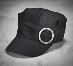 Designed to serve both fashion and function, Harley-Davidson® caps for women top of any outfit for a mysterious, sexy look.