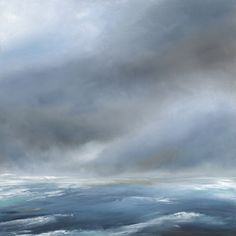 Oil painting of winter seascape - Wintertide by Tori Tipton