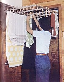 An Indoor Clothes Drying Rack