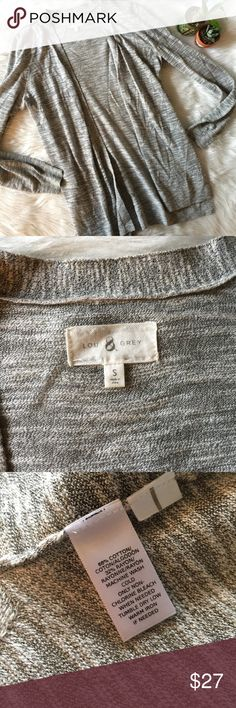 Lou & Grey Open Front Cardigan This cardigan in great condition! Perfect for fall/winter!  Size small!  Pit to pit is approx 23 inches  Length is approx 29 inches  Smoke and pet free home! No trades! No modeling! And no flaws like stains or holes😊 Lou & Grey Sweaters Cardigans