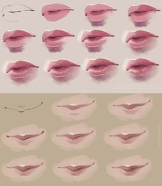 Semi-realism lips. step by step by *FeliceMelancholie on deviantART