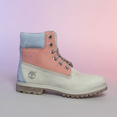 These boots are all about the pastels. Timberland 6 Inch, Timberland Boots, Shoe Shop, Kid Shoes, Suits You, Autumn Fashion, Ankle Boots, Footwear, Fancy