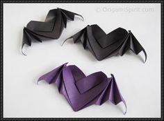 Halloween - Bat-Winged Heart Origami Tutorial