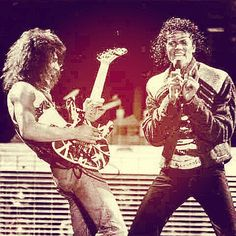 """THIRTY ONE YEARS AGO TODAY IN VANTASTIK HISTORY JULY 14TH 1984,..EDDIE VAN HALEN JOINED MICHAEL JACKSON ON STAGE IN DALLAS TEXAS TO PERFORM - BEAT IT - DURING THE JACKSON'S VICTORY TOUR!"