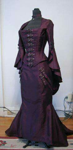Steampunk Buckle Dress