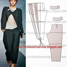 Ideas sewing fashion ideas costura for 2019 Sewing Clothes Women, Sewing Pants, Diy Clothes, Clothes For Women, Sewing Patterns Free, Clothing Patterns, Dress Patterns, Free Pattern, New Look Fashion