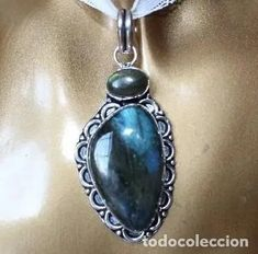 original colgante etnico de piedra labradorita - Comprar Colgantes Antiguos en todocoleccion - 198682896 Drop Earrings, Antiques, Jewelry, Stone Pendants, Labradorite, The Originals, Antiquities, Antique, Jewlery