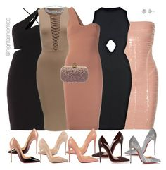 """Side to side"" by highfashionfiles on Polyvore featuring Versace, Hervé Léger, Miss Selfridge, STELLA McCARTNEY, Christian Louboutin, Bling Jewelry, Alexander McQueen and Harry Kotlar"