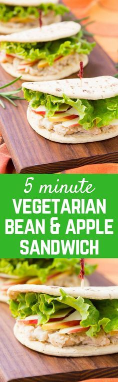 This bean Sandwich with Rosemary, Apple, and Parmesan is the perfect meatless lunch! You'll love the creamy beans with the fresh, crisp bite of the apple. Get the easy 5 minute vegetarian recipe on RachelCooks.com! #sponsored @flatoutbread