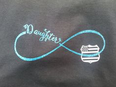 Check out this item in my Etsy shop https://www.etsy.com/listing/473759797/law-enforcement-daughter-thin-blue-line