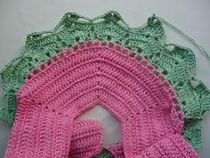 MIL AZAHARES BLANCOS: Vestido de niña a ganchillo o crochet