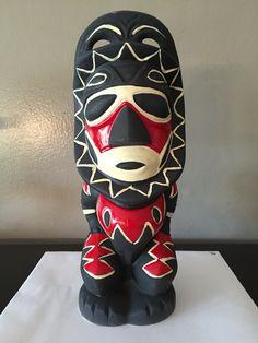 Tambu tiki mug from Tiki Diablo with hand painted highlights.