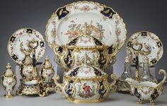 The 'Mecklenburg' dinner and dessert service | The Royal Collection     Chelsea Porcelain Works [London] (c. 1745-69) (porcelain manufacturer)  Materials:   Soft-paste bone-ash porcelain