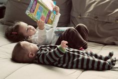 reading to babies and little ones <3