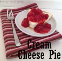Cream Cheese Pie on MyRecipeMagic.com This recipe only has five ingredients, takes five minutes to prepare, and it is so yummy!