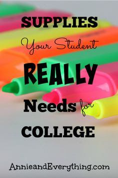 Wondering what to buy for your college freshman? The Annie and Everything college supply list recommends only what your student will REALLY need!