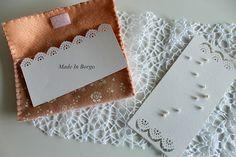 Made In Borgo: Wedding pochette #felt #weddingpochette #feltenvelopes #feitoamao #creativesewing #matrimonio #inviti #nozze #romanticwedding