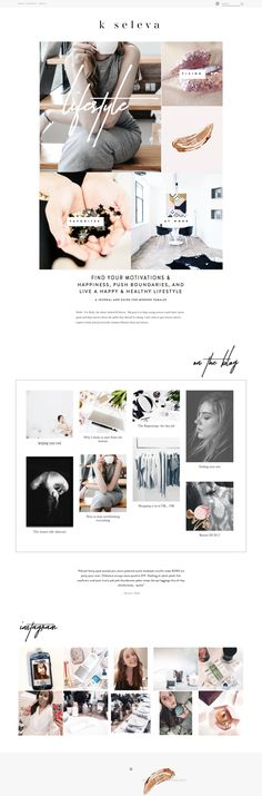 k seleva blog & branding, custom Squarespace blog design -Revamp, Amor