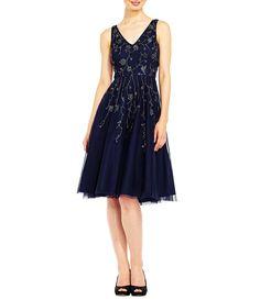d4f19b0e066 Adrianna Papell V-Neck Beaded Midi Dress Item  04955841  279. Dress For  Petite