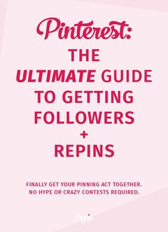 How to get more followers and repins on Pinterest: the Ultimate (hype-free!) Guide that will tell you everything you need to know to build a popular Pinterest account. Read + bookmark it at http://olyvia.co/how-to-get-pinterest-followers-and-repins/