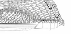 Sports Hall Roof Structure 'Fluid Steel' | Power Architecture