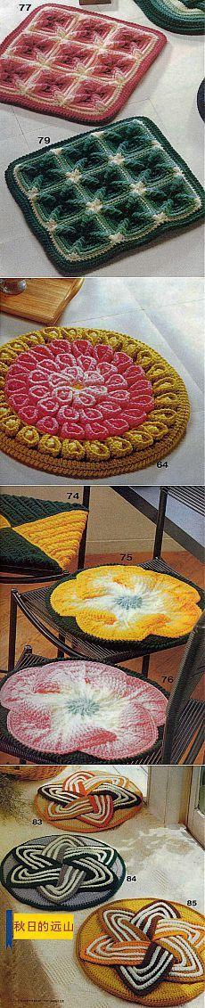 Очаровательные коврики на стульчики.