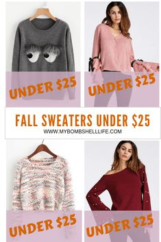 Sweater Finds under $25 ~ Gosh I love Deals! - My Bombshell Life