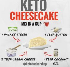 414 Likes, 64 Comments - Brandon Carter . Brandon Carter - KETO CHEESECAKE So you're doing the ketogenic diet but have a craving for a sweet dessert? Not to worry, here is a del. Keto Cheesecake in a mug 8 Awesome Keto Friendly Cheesecake Ideas *dont forg Ketogenic Diet, Ketogenic Recipes, Diet Recipes, Paleo Diet, Vegetarian Keto, Coconut Oil Recipes Keto, Diet Tips, Cheesecake Mix, Low Carb Cheesecake