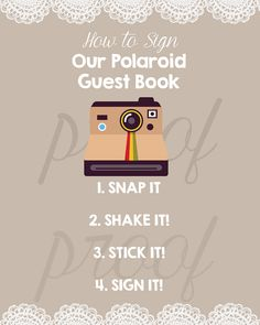 Polaroid Wedding Guest Book Table Sign-How to Sign Our Polaroid Guest Book- Mr & Mrs- Bride and Groom Sign Printable-