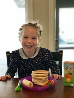 Lets have some fun in the kitchen and serve up something tasty for breakfast! Check out our super easy Banana Pancake recipe and learn all about Juicy Juice's Flavorful campaign! #ad #juicyjuicecrew #flavorfulfun @juicyjuiceusa