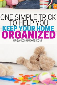 A simple trick to help you keep your home organized. Very little effort, that pays off a lot and saves time!