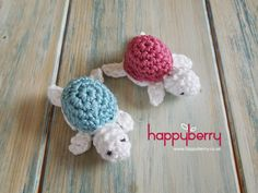 Happy Berry Crochet: How To Crochet a Baby Turtle - Yarn Scrap Friday