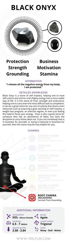 SHIPPING INFORMATION COUNTRY PROCESSING TIME SHIPPING TIME U.S.A. 1 day 2-7 days REST OF WORLD 1 day 4-12 days Description Black Onyx is a stone of self-mastery, helping one to have self-control and a