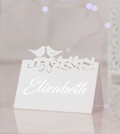 Love Birds name place cards will take pride of place at your reception, complimenting your wedding table decor. They present a precisely cut love birds kissing design that's styled on pretty pearlised card. Wedding Table, Wedding Day, Name Place Cards, Thank You Gifts, Love Birds, Kissing, Wedding Accessories, Big Day, Compliments