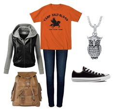 Annabeth Chase outfit by trebellious003 on Polyvore featuring polyvore, fashion, style, J.TOMSON, Anine Bing and Converse
